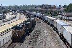 UP 5746 DPU and BNSF Z-train