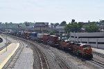 BNSF 6659 leads EB intermodal