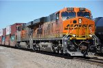 Eastbound stacker eases away from stop