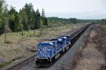 Ore empties roll north