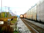 UP 7692 with another CSX unit going by Depew Station