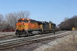 After getting the signal, D707 rolls into the plant at Plaster Creek heading for the diesel house