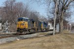 Bound for Clearing Yard on the BRC, Q335 rolls west through Grandville