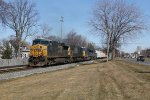 Q335-23 heads west with 4 engines and 115 cars for Chicago
