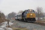 CSX 9969 leads W003 east through Grandville