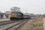 9969, CSX's new geometry train unit, rolls toward Wyoming with W003