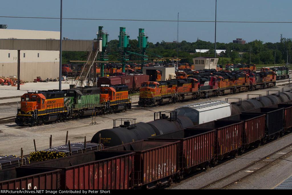 Sunny morning at the diesel depot