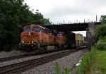 BNSF7583 and BNSF4419 passing Peck Park