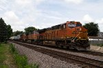 "BNSF7021, BNSF4590 and BNSF6744 runing ""wrong track"" by Peck Park"