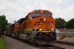 """Twins"" BNSF8278 and 8279 passing Peck Park"