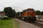 BNSF4116, NS7507 and BNSF9627 passing Peck Park