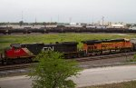 CN2565, BNSF7579 and others waiting for a new crew