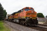 BNSF6110 and BNSF4958 passing Peck Park