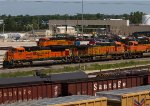 BNSF8555, BNSF5643, BNSF6131 and BNSF7326 by the diesel depot