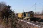 Almost back to Ensel, CSX 4035 rolls east near the airport with D707