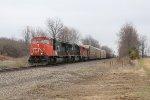 CN units sandwich an IC SD70 as M395 heads west