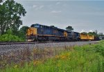 CSX 3037 leads a southbound manifest freight