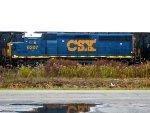 CSX 6207 by the firehall