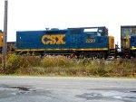 CSX 2290 by the firehall