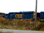 CSX 6484 by the firehall