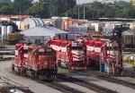 TRRA3003, TRRA2011, TRRA2008 and TRRA2003 at the depot