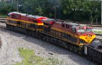 KCS4666 and KCS4847 leaving the yard