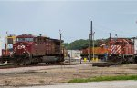 CP9807, DME6085 and BNSF4774 outside the depot