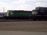 NS 7532 & BNSF 8185