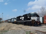 NS 2754 with 2753, 2724, CN 5747, HLCX 6520, and UP SD70M after wreck repairs released