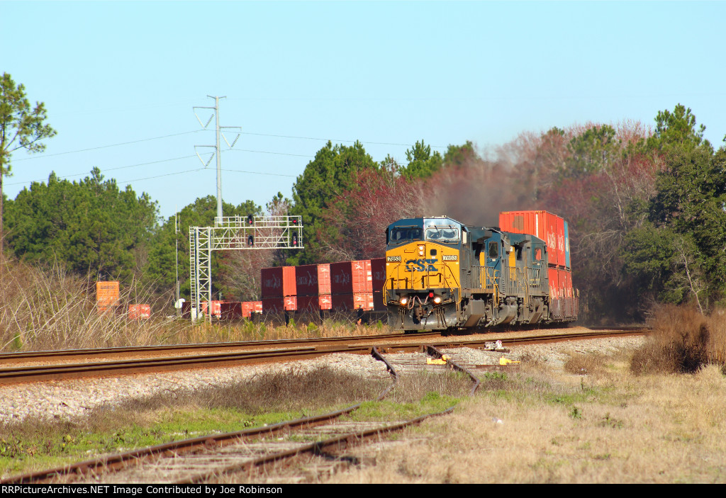 CSX stack train at Race Pond,GA.