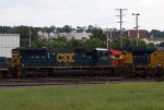 CSX8769, Unknown720, CSX3110 and CSX3031 outside the works