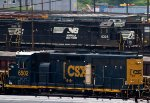 CSX6502, NS6305 and NS6314 outside the locomotive works