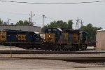 CSX8059, CSX5387 and CSX8258 outside the depot