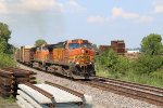 BNSF 4996 Leads the GALMEM into Old Monroe Mo.