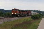 BNSF 7554 Leads a 4 Pack of Ge's on the Transcon.