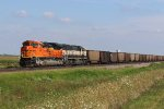 BNSF 8993 New Sd70Ace working a coal empty.