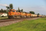 BNSF 6304 roars into Danville Iowa.
