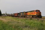 BNSF 4991 Heads a Oil can down the K Line.