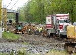 Installing new rails & ties @ Broadway VPGA mill