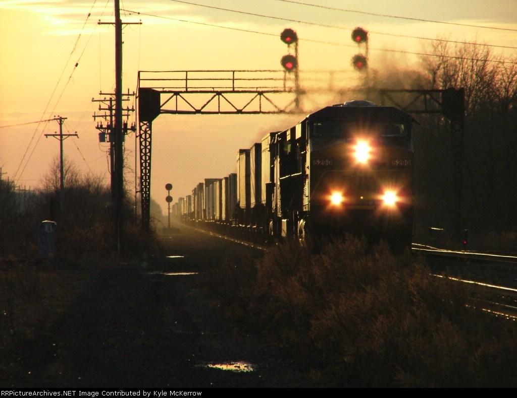 Eastbound TV train through CP73
