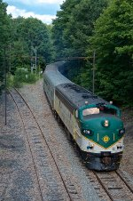 Maine Eastern FL9 488 AT CP-L17 coming onto Pan-Am