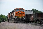 Tied down grain train