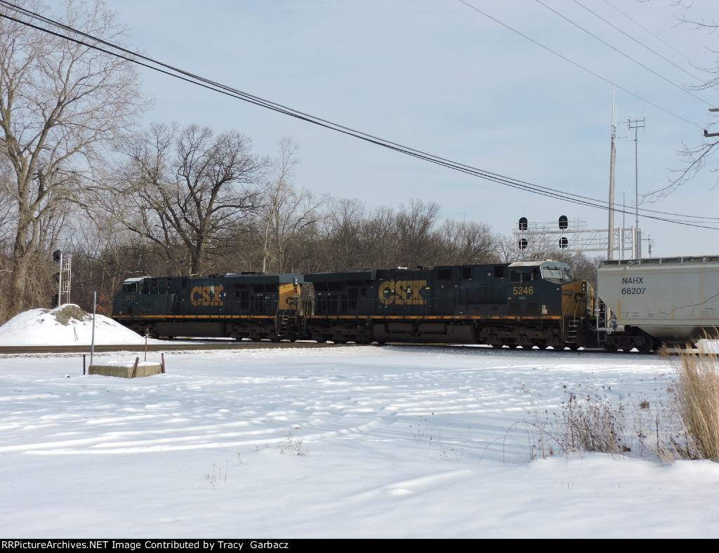 CSX NB grain train