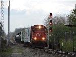 CN 5404 westbound by singals