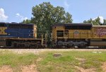 UP SD70ACe 8494 and CSX SD40-2 8857