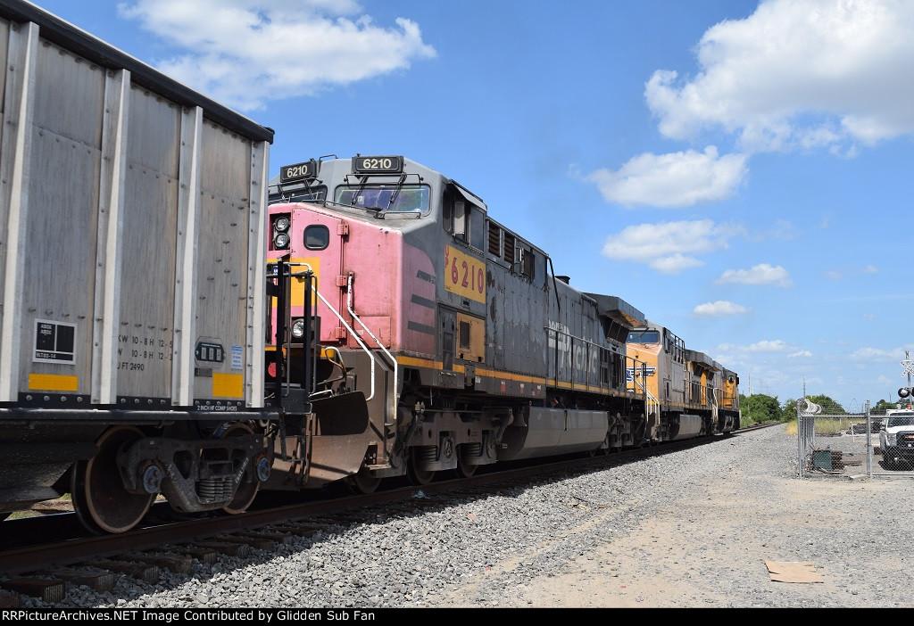 Going away shot of an EB UP rock train