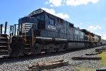 NS 8764 trails on EB rock train