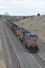 UP 6275 DPU on eastbound UP loaded coal train
