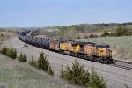 UP 6873 eastbound UP loaded oil train