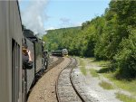 "Meeting the Lehigh Gorge Scenic Railway's ""Bike Train"" at 11:26 a.m."